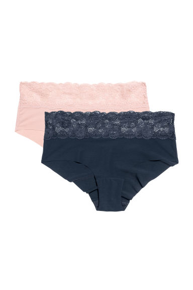 2-pack hipster briefs - Powder/Dark blue - Ladies | H&M
